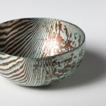 Hand raised Mokume Gane Bowl made from 48 layers of silver and copper Ht 3.8cm Dia 8.6cm