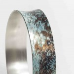 Mokume Gane Bangle made from 7 layers of silver copper and gilding metal