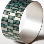 Mokume Gane Bangle made from silver and copper