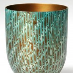 Spun Mokume Gane Bowl made from 5 layersof copper and silver. Ht 7cm Dia 6cm