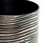 Spun Mokume Gane Bowl made from 7 layers of gilding metal silver and copper Ht 7cm Dia 5.8cm